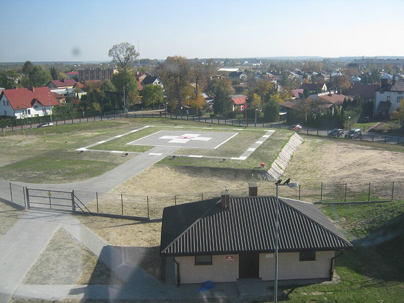 Landing ground area for helicopters in Lubaczów