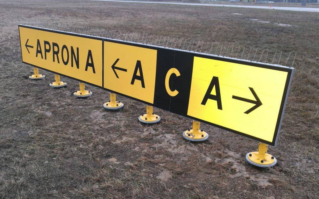 Zakończyliśmy aktualizację oznakowania pionowego pola naziemnego ruchu lotniczego