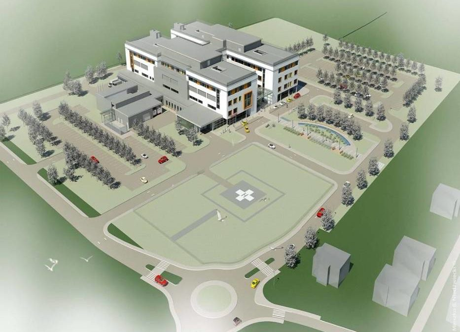 We are building a helicopter landing site at the New District Hospital in Żywiec