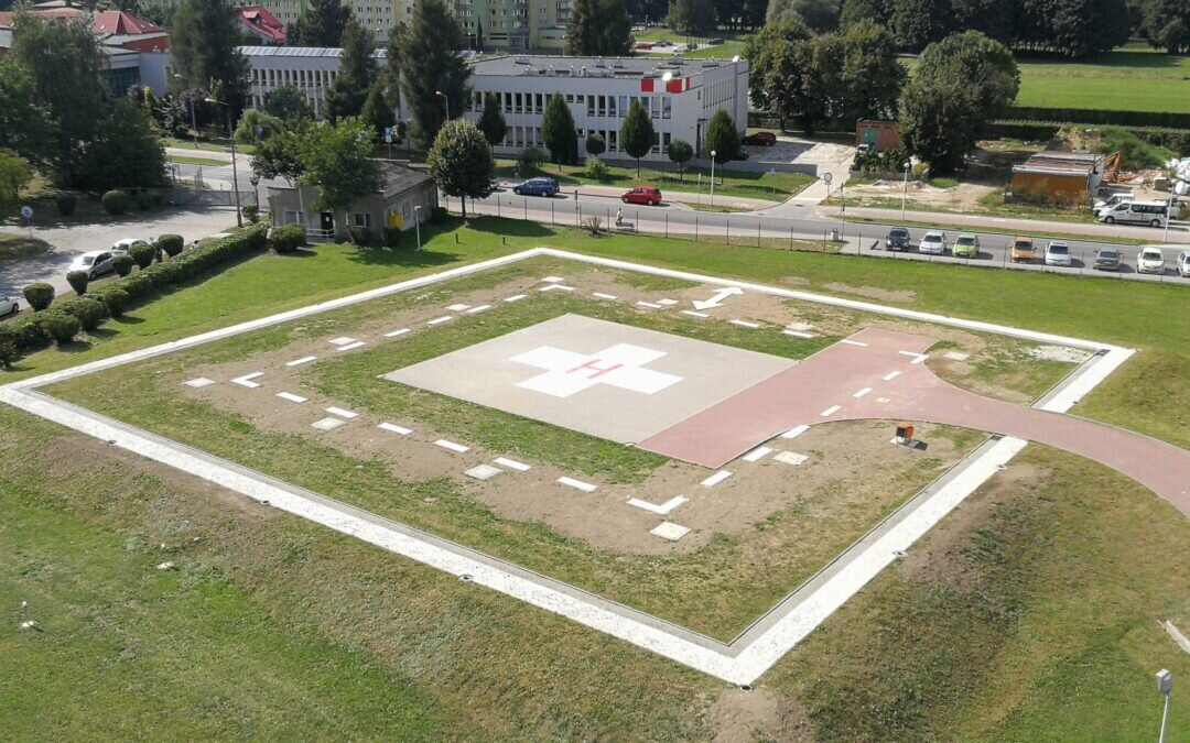 We have completed the reconstruction of the helipad in Oświęcim