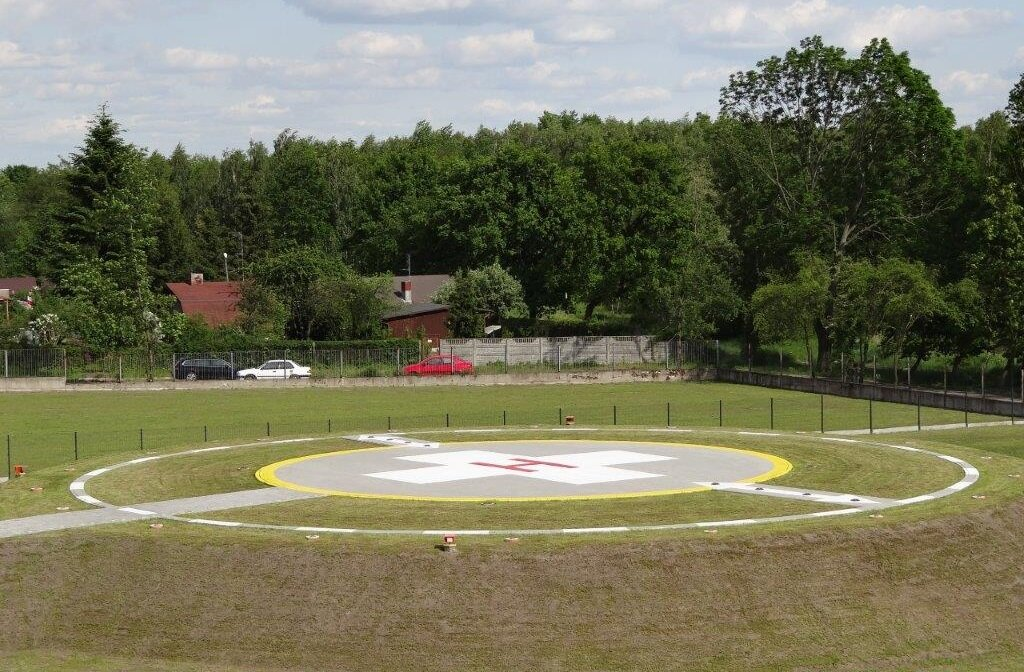 We have completed the construction of the helipad in Pabianice