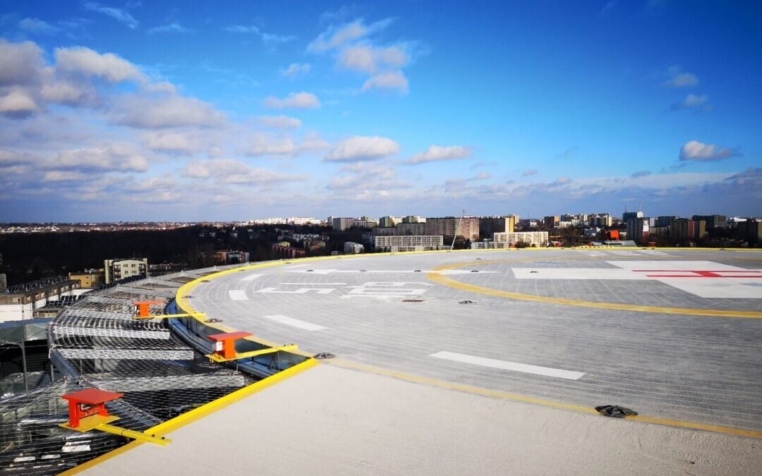 We are building a helipad at the Clinical Hospital No. 1 in Lublin