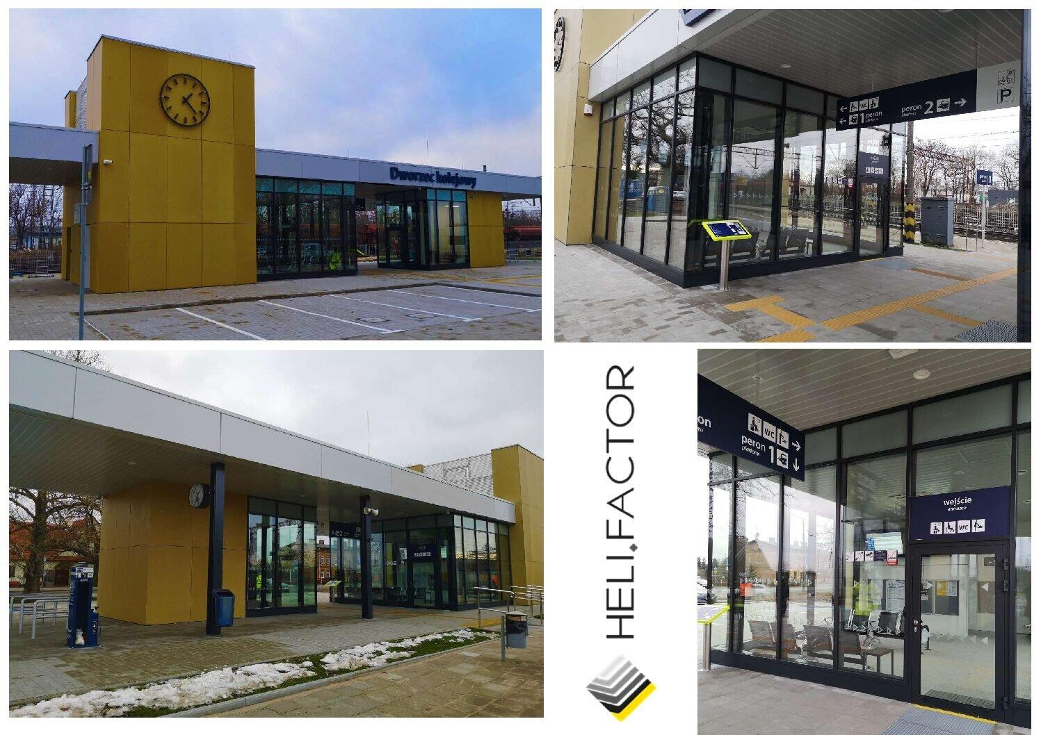 Pierwszy dworzec kolejowy budowany przez Heli Factor otwarty dla pasażerów!